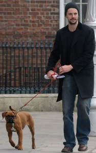 Photos-Watchmen-Star-Matthew-Goode-His-Boxer-Puppy-Dublin-Ireland