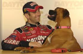 Greg Biffle (NASCAR racer) and his boxer