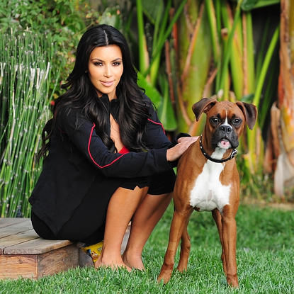 "Photo of Khloe Kardashian & her Dog Bernard Hopkins ""BHops"""